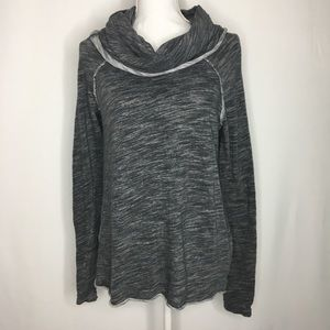 Free people beach cowl neck sweater heathered gray